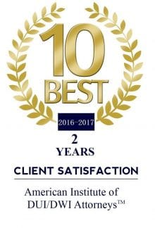 2 Year - 10 Best RI DUI Lawyer Award 2016 - 2017 Chad Bank